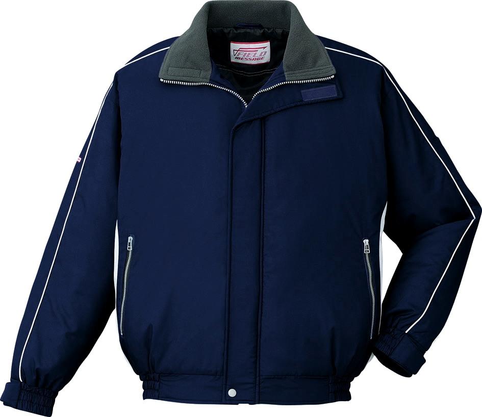 【軽量】 作業服 防寒ブルゾン 自重堂 jic48400 ネイビー 大きいサイズ 4L 5L 作業着 ビッグサイズ