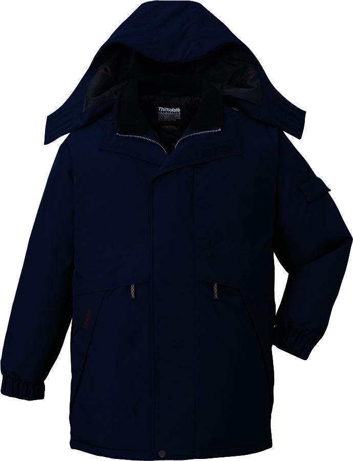 作業服 防寒コート ハーフコート 防水 シンサレート 自重堂 48343 ネイビー 大きいサイズ 4L 5L 作業着 ビッグサイズ BIG 冬用