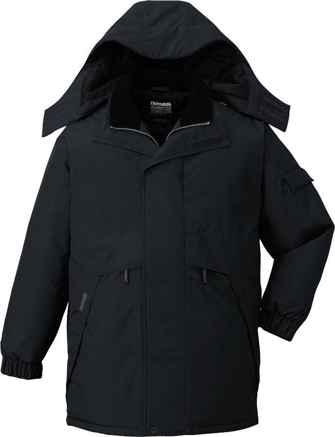 作業服 防寒コート ハーフコート 防水 シンサレート 自重堂 48343 チャコールグレー 大きいサイズ 4L 5L 作業着 ビッグサイズ BIG 冬用