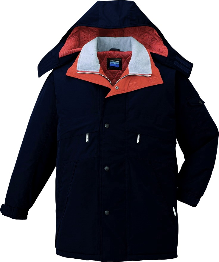 作業服 防寒コート 防水 シンサレート 自重堂 48233 ネイビー 作業着 冬用