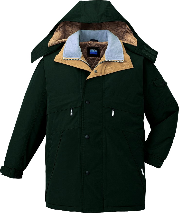 【防水】 【シンサレート】作業服 防寒コート 自重堂 jic48233 グリーン 大きいサイズ 4L 5L