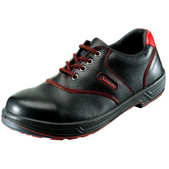 安全靴 Simon シモン 短靴 シモンライト SX3層底 SL11-R 黒×赤 セーフティー 送料無料