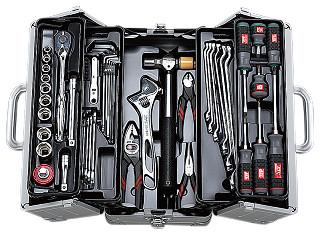 新作商品 KTC 工具52点セット(両開きメタルケースタイプ) SK4526W 【未使用】:工具のキラクヤ 店-DIY・工具