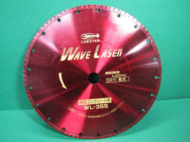 【送料無料】LOBSTER(エビ)ロブテックス ダイヤモンドホイール WL355305 ウェブレーザー(乾式)360×3.0×6×30.5 消耗品【未使用】成田店】
