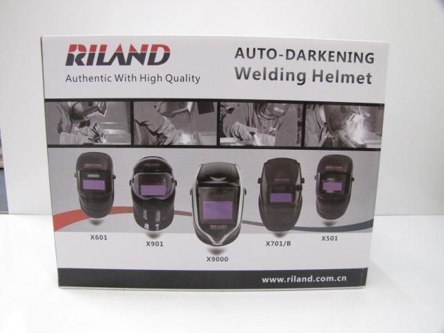 RILAND 自動熔接遮光面 フィルター及びヘルメット ブラック X701侍 【新品】【成田店】