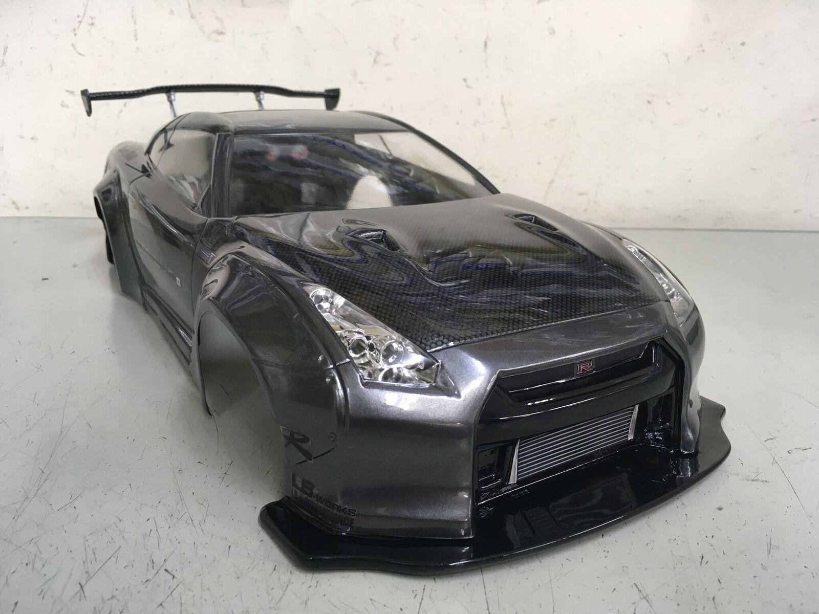 TETSUJIN 鉄人 NISSAN GT-R 【R35】LB☆PERFORMANCE ver.カーボン調ボンネット(ガンメタ)