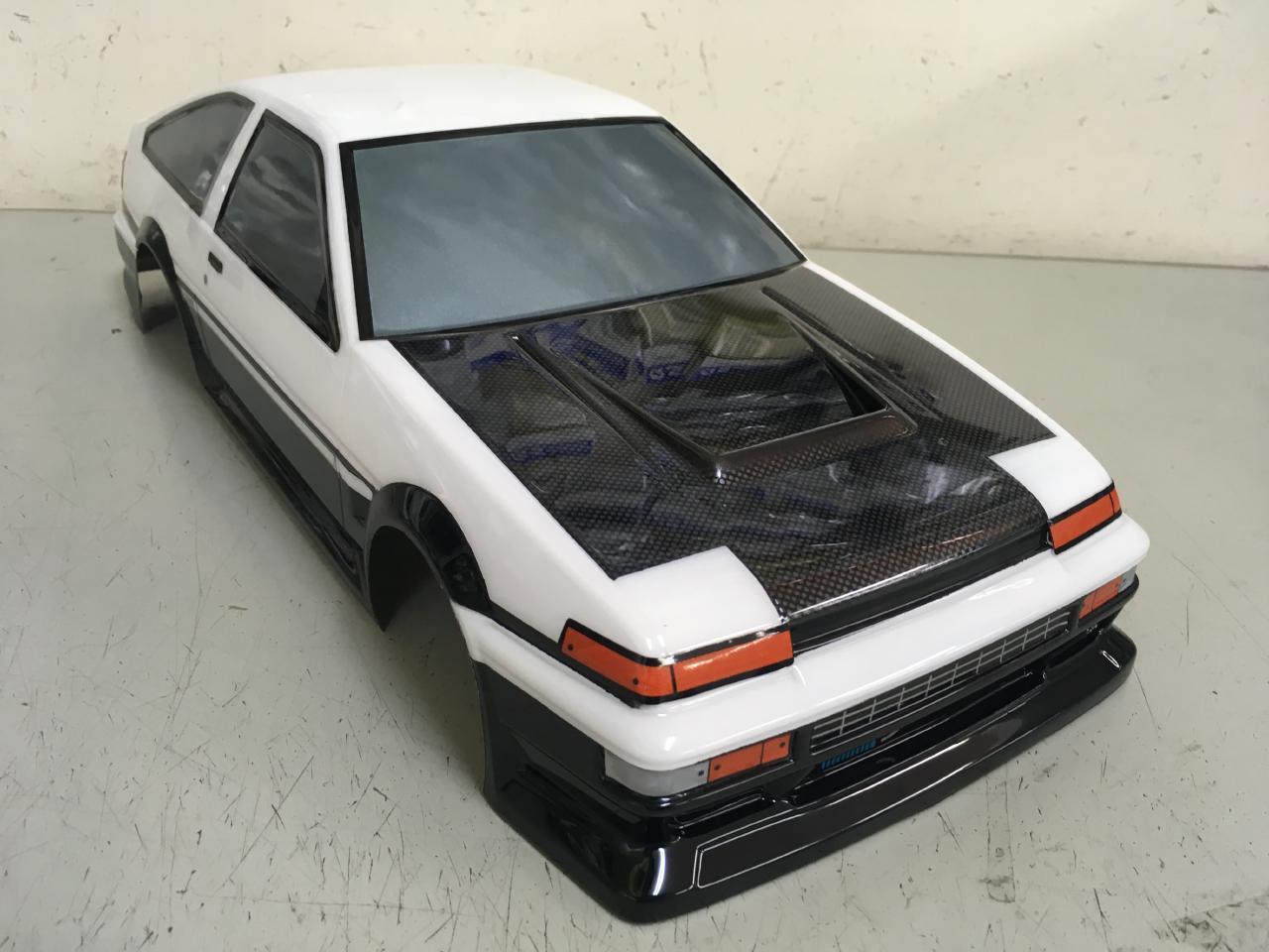 当店オリジナル塗装済みボディ ヨコモ TOYOTA AE86 TRUENO ストリートバージョン ボディ