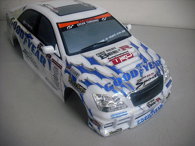 当店オリジナル塗装済みボディ ヨコモ GOODYEAR Racing ZERO CROWN ボディセット SD-ZCRSA ライトプラパーツ付