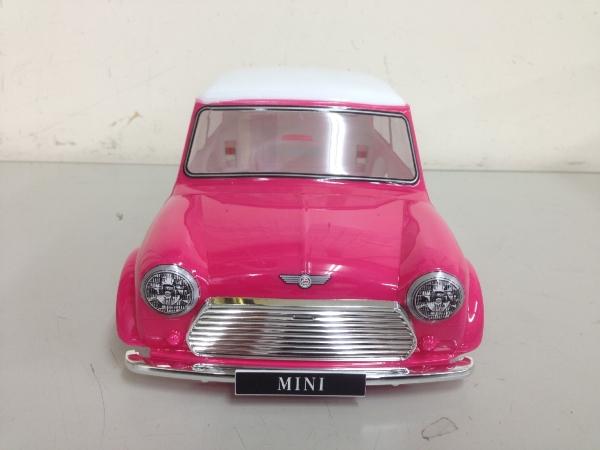 Tamiya Mini Cooper-plated bumper design pink