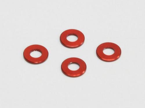 <BR>【送料無料】[取寄] 京商 アルミカラー(3x6x0.5mm/レッド/4pcs) 97041-05R