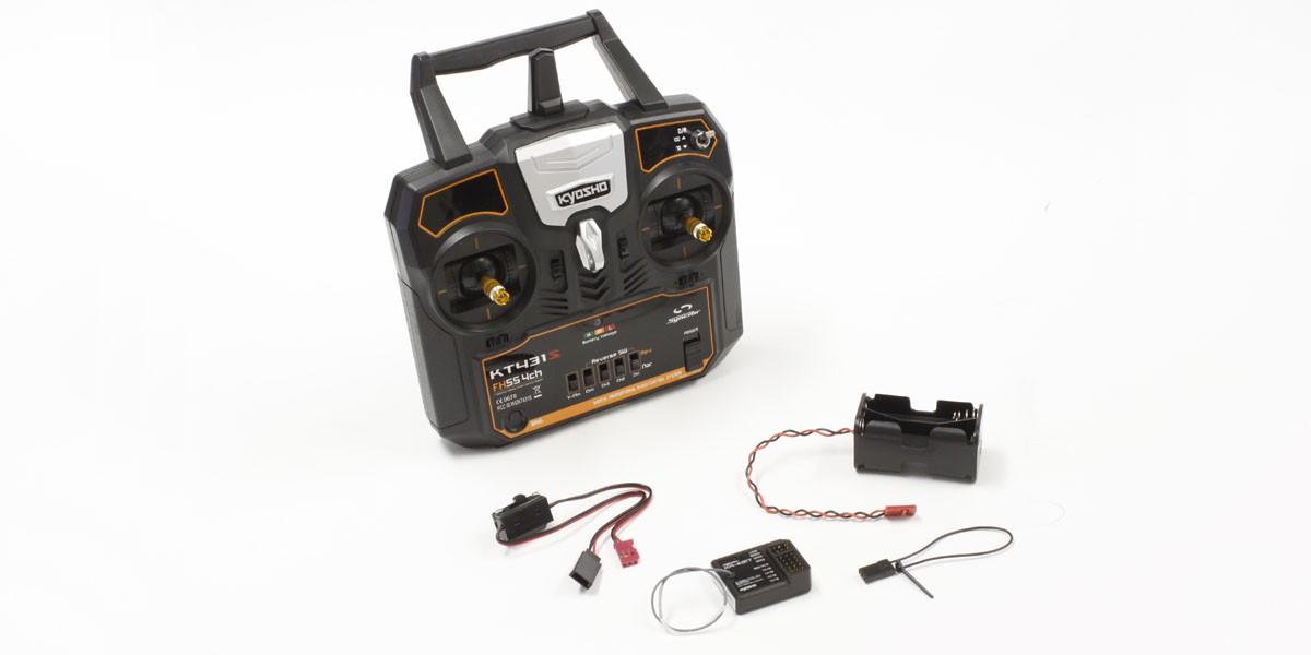 [取寄] 京商 2.4GHz デジタルプロポーショナルラジオコントロールシステム シンクロ KT-431S 4ch Tx/Rxセット(モード1) 82431M1