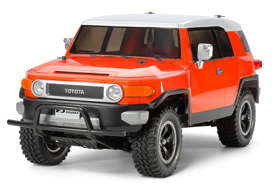 タミヤ トヨタ FJクルーザー 塗装済みオレンジボディ付(CC-01シャーシ) #84401