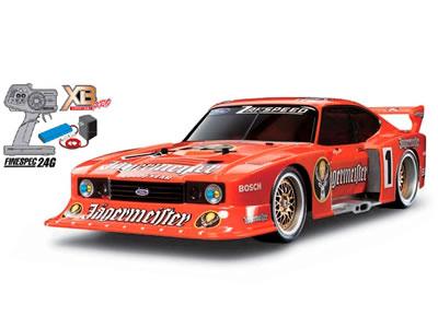 タミヤ XBフルセット ザクスピード イェーガーマイスター フォード カプリ Gr.5 (TT-01Eシャーシ) #57873