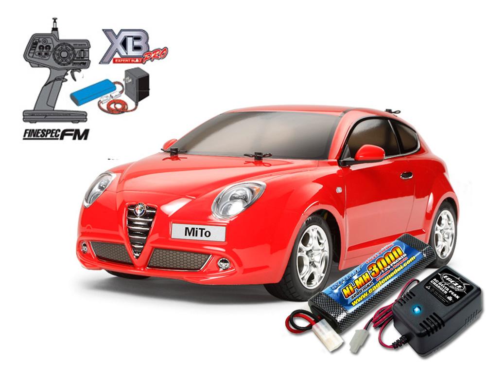 タミヤ XBフルセット アルファロメオ MiTo(M-05シャーシ) +急速充電器・大容量バッテリーセット #2883-2638-57802