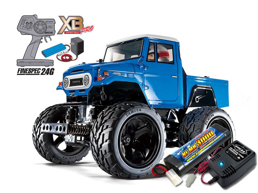タミヤ XBフルセット 2.4G トヨタ ランドクルーザー40 ピックアップ(GF-01シャーシ) +急速充電器・大容量バッテリーセット #2883-2638-57880