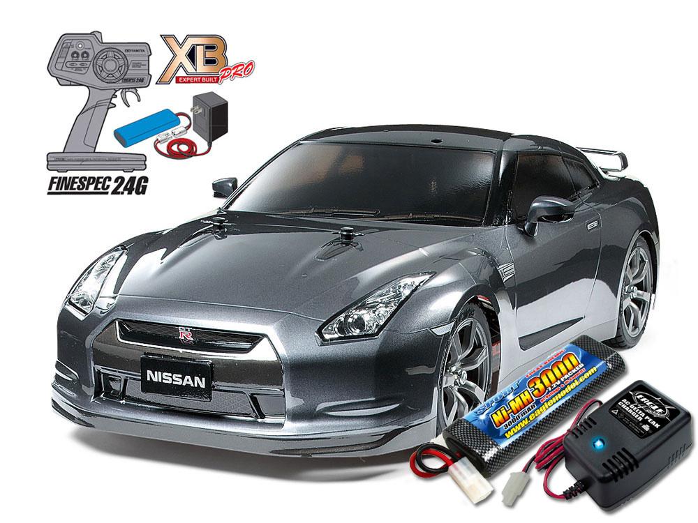 タミヤ XBフルセット 2.4G NISSAN GT-R(TT-01Eシャーシ) +急速充電器・大容量バッテリーセット #2883-2638-57779