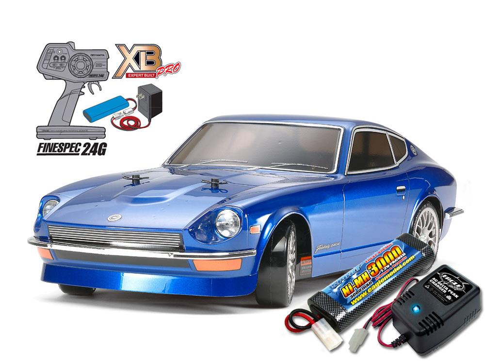 タミヤ XBフルセット 2.4G フェアレディ240Z(TT-01D TYPE-Eシャーシ) +急速充電器・大容量バッテリーセット #2883-2638-57808
