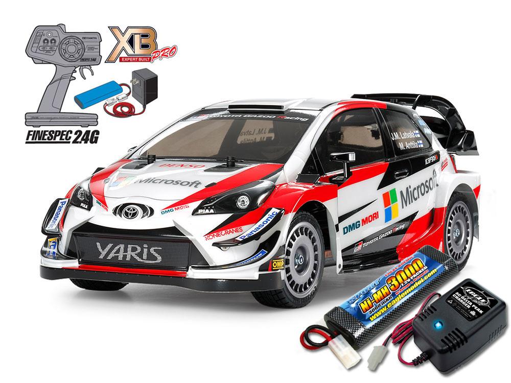 タミヤ XBフルセット 2.4G トヨタ ガズー レーシング WRT/ヤリス WRC (TT-02シャーシ)+急速充電器・大容量バッテリーセット #2883-2638-57903