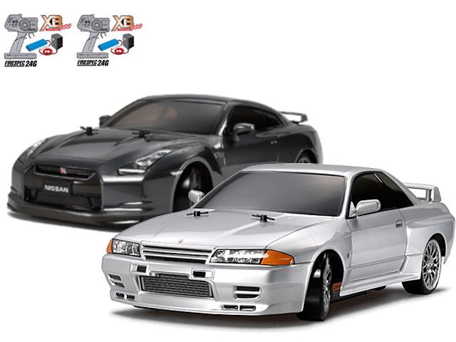 タミヤ 1/10RC XBフルセット NISSAN スカイライン GT-R (R32)(ドリフトスペック)・NISSAN GT-R(ツーリング) #57783-57779