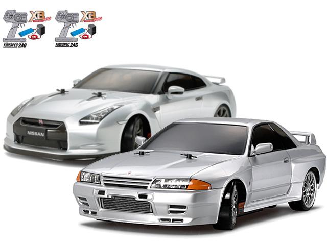 タミヤ 1/10RC XBフルセット NISSAN スカイライン GT-R (R32)(ドリフトスペック)・NISSAN GT-R(ドリフトスペック) #57783-57801