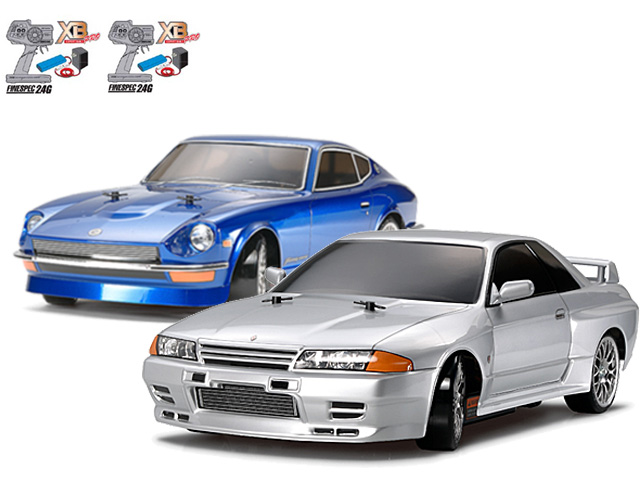 タミヤ 1/10RC XBフルセット NISSAN スカイライン GT-R (R32)(ドリフトスペック)・フェアレディ240Z(ドリフトスペック) #57783-57808