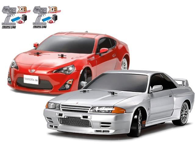 タミヤ 1/10RC XBフルセット NISSAN スカイライン GT-R (R32)(ドリフトスペック)・TOYOTA 86(ドリフトスペック) #57783-57851