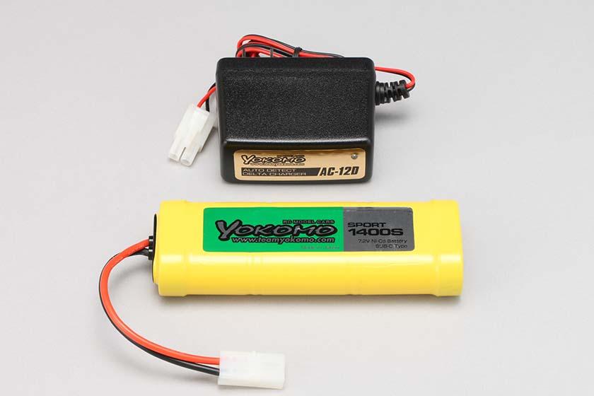 ヨコモ充電器 送料無料 ヨコモ スポーツ1400mAh 希少 AC-12D 品番YZ-AC140 公式ストア Ni-cd専用 Ni-MH 充電器セット