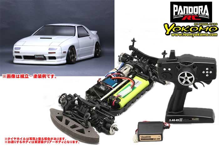 ヨコモ 2.4GHzシステム搭載 組立済ドリフトレーサー+Mazda RX-7 [FC3S] PAB-2121