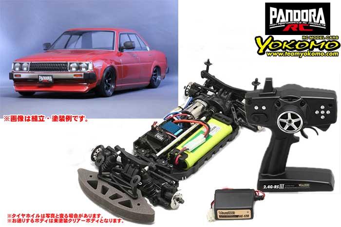 ヨコモ 2.4GHzシステム搭載 組立済ドリフトレーサー+Toyota カローラ KE70 PAB-2127