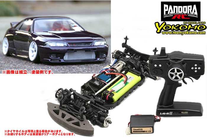 ヨコモ 2.4GHzシステム搭載 組立済ドリフトレーサー+NISSAN スカイラインR33 GT-R PAB-2130