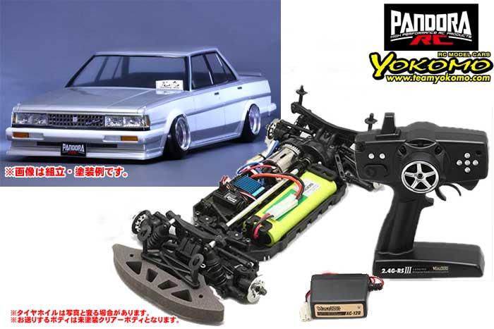 ヨコモ 2.4GHzシステム搭載 組立済ドリフトレーサー+Toyota クレスタ GX71 PAB-2146
