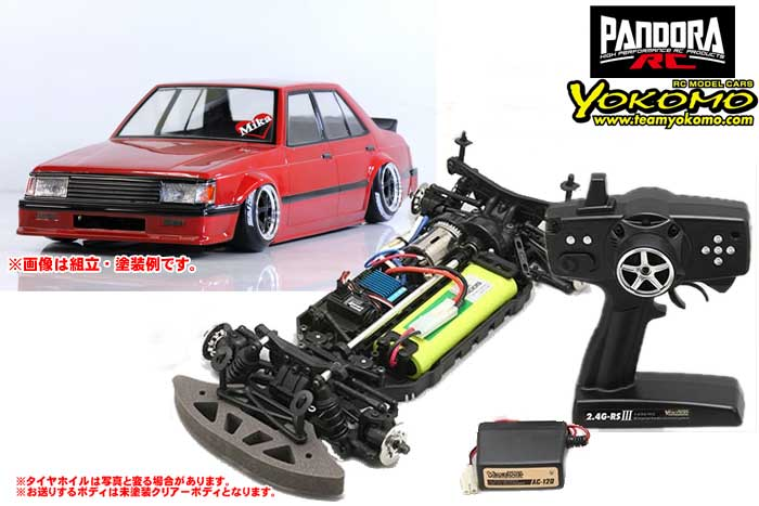 ヨコモ 2.4GHzシステム搭載 組立済ドリフトレーサー+Mitsubishi ランサー EX PAB-2149