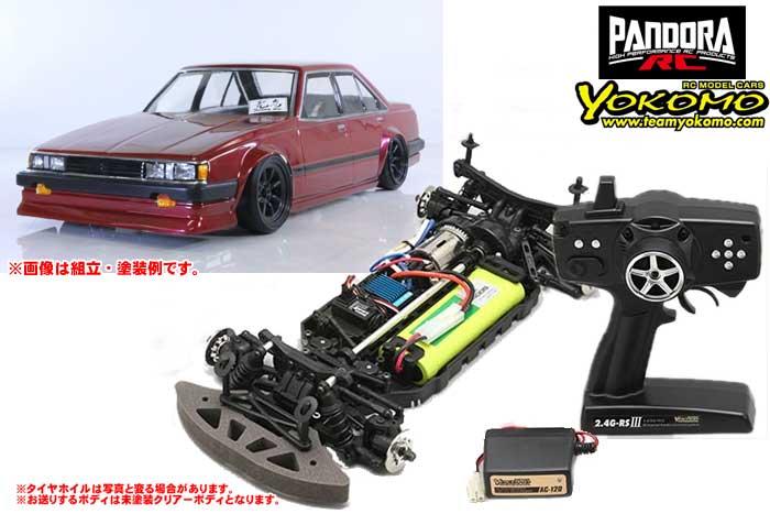 ヨコモ 2.4GHzシステム搭載 組立済ドリフトレーサー+Toyota カリーナ A63 PAB-2152