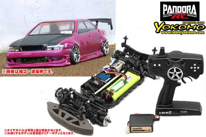 ヨコモ 2.4GHzシステム搭載 組立済ドリフトレーサー+Toyota CHASER JZX100 / ORIGIN PAB-2156