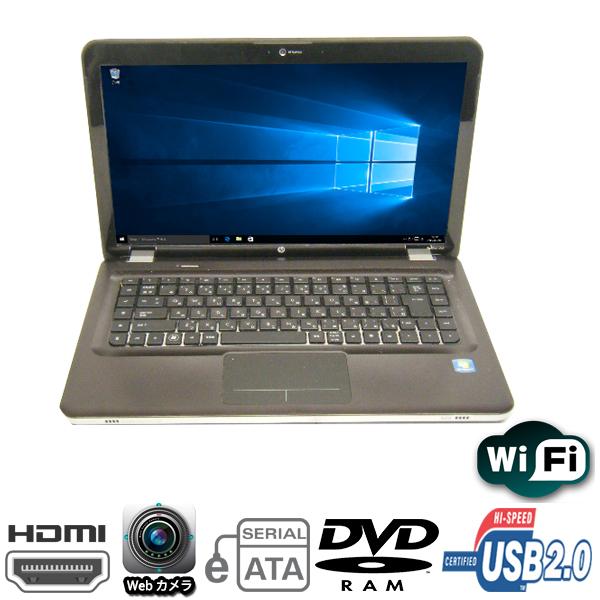 現品一台限り 15.6型HDワイド HP製 pavilion Dv6 AMD Processor V160-2.4GHz メモリ4GB HDD160GB DVDマルチ 無線LAN内蔵 Windows10 Home 64bit済【HDMI】【Webカメラ】【中古】