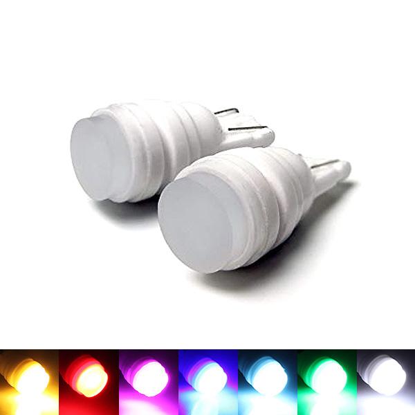 メール便送料無料 T10 LEDバルブ ウェッジ球 陶器製 ポジション球 ナンバー灯 T16 大幅にプライスダウン ライセンス灯 外装 DIY カスタム パーツ T10バルブ 新作多数 超広角 面発光 グリーン ピンク セラミック製 レッド 12V 2個セット アンバー アイスブルー ホワイト ルームランプ