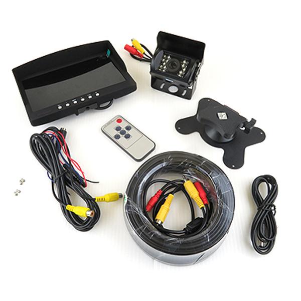 バックカメラ 7インチ モニター セット 12V/24V 液晶バックモニター/オンダッシュ/ヘッドレスト