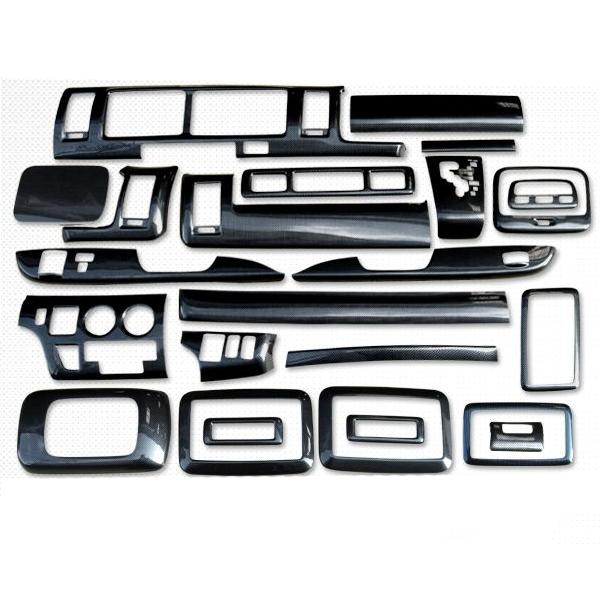 ハイエース 200系 レジアスエース 1型/2型/3型前期/3型後期 インテリアパネル/3Dパネル 25Pセット 標準ボディ 内装 カスタム パーツ