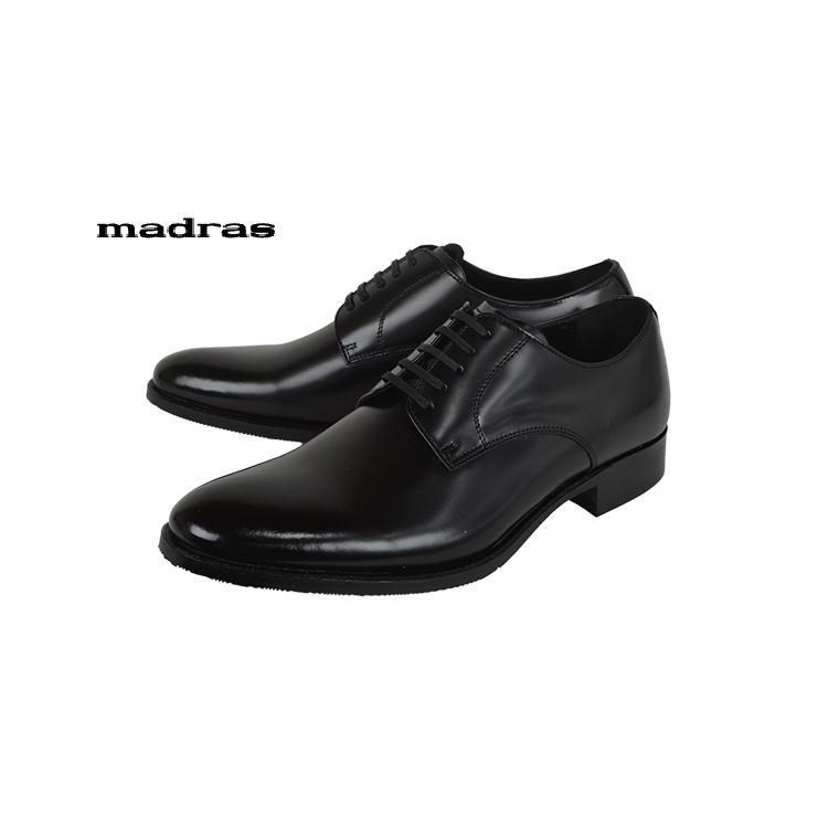 madras[MA183]Blackマドラス プレーントゥ ビジネスシューズ ブラック