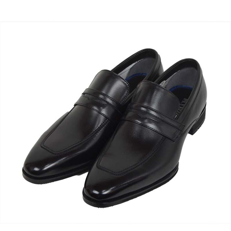 ビジネスシューズ マドラス モデロ madras MODELLO[DM8004]BLACK ブラック ローファー メンズ 革靴 結婚式 冠婚葬祭 就活 レースアップ 3E EEE