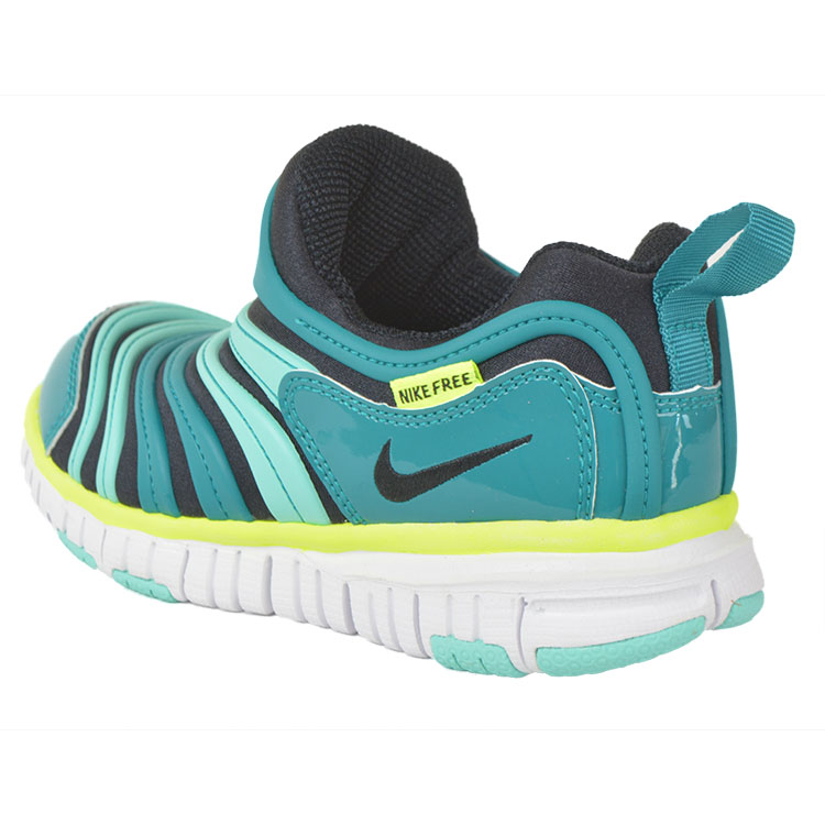 Nike [Nike] 343738-009 Dynamo free PS | kids shoes | black/teal | slip-on | Nike free