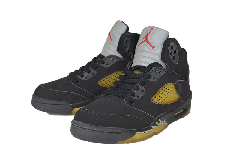 3b6eb546 Dead stock NIKE [AIR JORDAN 5 RETRO] BLACK/BLACK-METALLIC SILVER ...