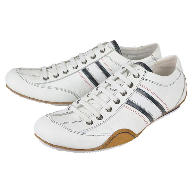 3GS(スリー・ジェネレーションズ) 103-0412AD-141 WHITE 革靴 カジュアル メンズ カジュアルシューズ レースアップ 紐 レザー ビジカジ 大人カジュアル