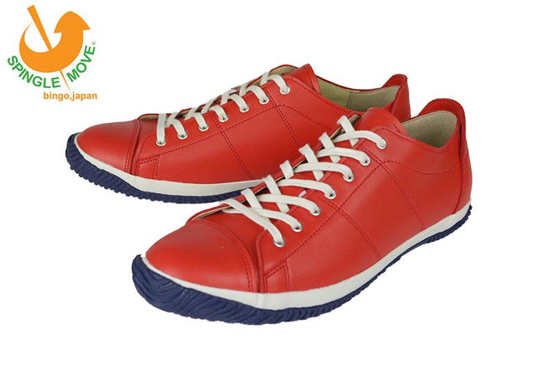 スピングルムーヴ Spingle Move×kobe foot club SPM-062 RED 当店別注アイテム! レザースニーカー 大人 おしゃれ 日本製 デート スピングル ムーブ スニーカー