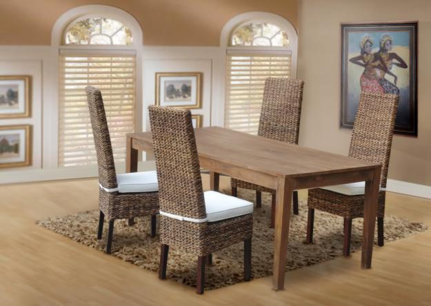 落ち着いた南国リゾートのような癒しの空間を… テーブル + チェア4点セット ♪ 心安らぐアジアンテイスト ♪
