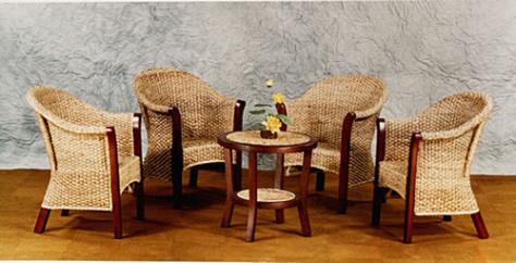 落ち着いた南国リゾートのような癒しの空間を… テーブル & チェア 2脚 ♪ 心安らぐアジアンテイスト ♪