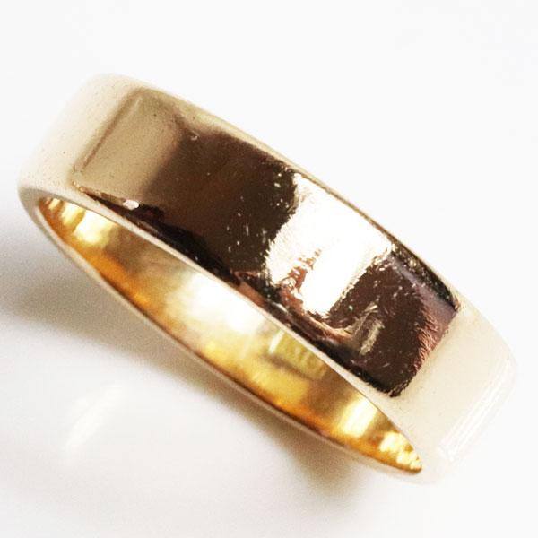 【MR2792】★K18 イエローゴールド 平打ちリングユニセックスリング 指輪 4.8g サイズ11号【中古】【質屋出品】【あす楽】