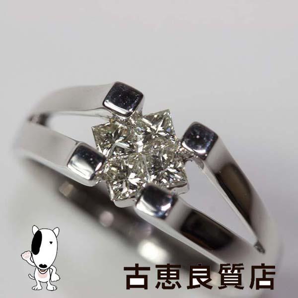 ★K18WG 指輪 ダイヤリング.0.5ct 4.6g☆【中古】★【MR173】リング サイズ13号【値下げ】