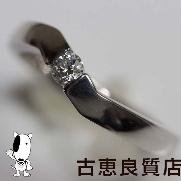 MR332【中古】Pt プラチナ リング 指輪 Pt900 D.0.134ct 5.4g サイズ12号【質屋出品】【あす楽】【値下げ】