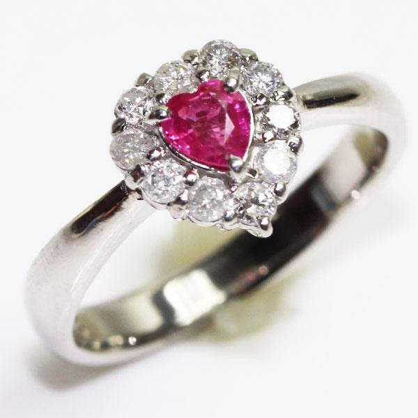 【MR1572】【中古】PT プラチナ ルビー/ダイヤモンドリングファッションリング レディース指輪 R0.25/D0.25ct5.0g サイズ11.5号【あす楽】【質屋出品】